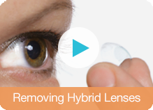 removing hybrid lenses video